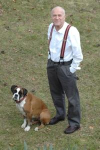 Norbert Kiesling mit Boxerhündin Tara